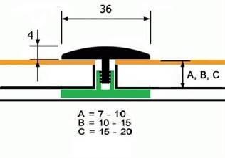 Гибкий Стыковочный Профиль Polmar Step Flex (6 метров)