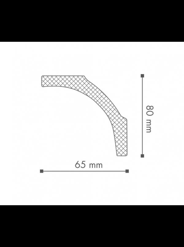 Плинтус Потолочный NMC Nomastyl Plus B1