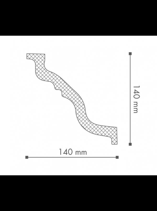 Плинтус потолочный NMC Nomastyl Plus TL