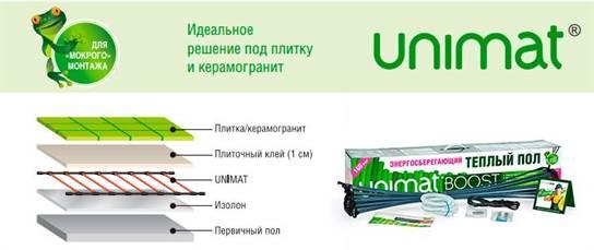 Стержневой Теплый Пол Caleo Unimat Boost 160 Вт/м2 25 пог/м