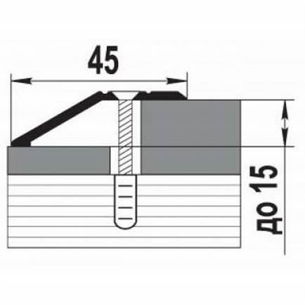 Стыковочный Профиль Лука ПР 04 L-1800