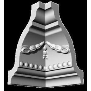 Плинтус потолочный Glanzepol GP-12