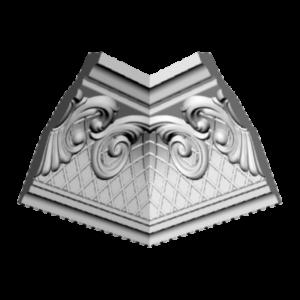 Плинтус потолочный Glanzepol GP-26