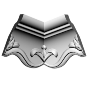 Плинтус потолочный Glanzepol GP-40