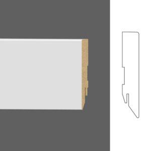 """Плинтус напольный Classen Pure Basic 222399 16x80 мм """"Белый"""""""