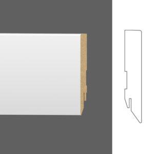 "Плинтус напольный Classen Pure Basic 222656 16x90 мм ""Белый под покраску"""