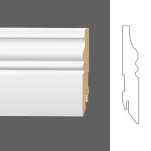 """Плинтус напольный Classen Pure Faun 222617 16x100 мм """"Белый под покраску"""""""
