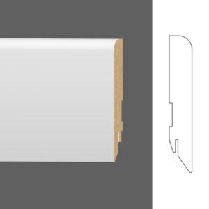 """Плинтус напольный Classen Pure Furia 222620 16x80 мм """"Белый под покраску"""""""