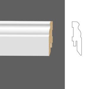 """Плинтус напольный Classen Pure Naxos 2601687 16x60 мм """"Белый"""""""