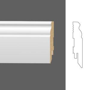 """Плинтус напольный Classen Pure Naxos 2801601 16x80 мм """"Белый"""""""