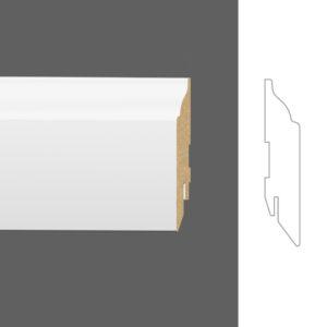 """Плинтус напольный Classen Pure Rex 222397 16x80 мм """"Белый"""""""