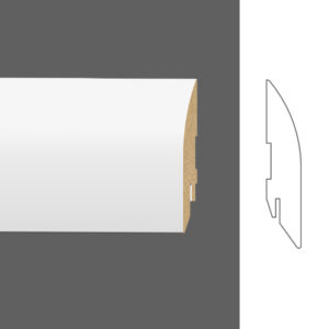 """Плинтус напольный Classen Pure Sol 222390 16x80 мм """"Белый"""""""